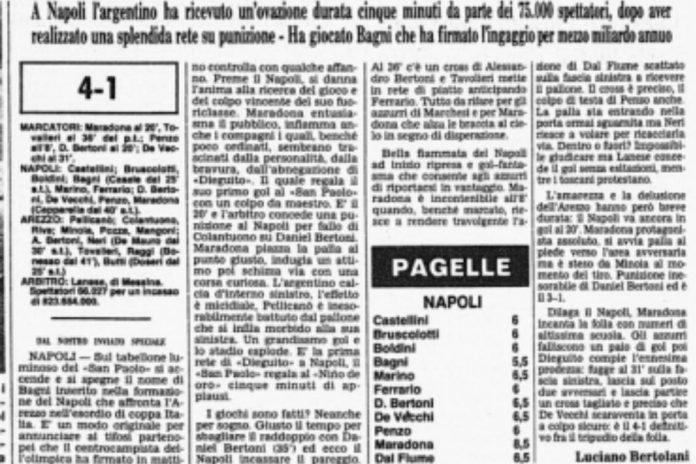 primo gol maradona in Italia